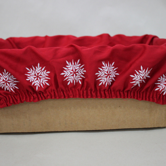 Unknown Other - Rectangle Red Snowflake Christmas Basket Liner